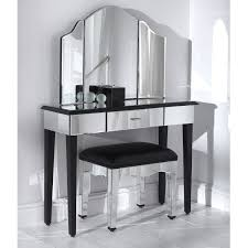 Romano Mirrored Console Table In Bedroom