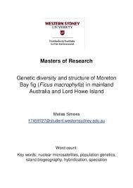 Best spa resorts in lord howe island on tripadvisor: Genetic Diversity And Structure Of Moreton Bay Fig Ficus Macrophylla In Mainland Australia And Lord Howe Island Western Sydney University Researchdirect