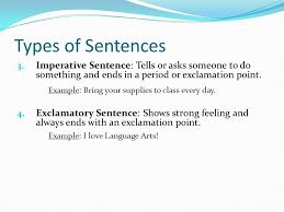 Types of Sentences 7th Grade Language Arts. - ppt download