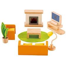 doll house furniture sets. Hape Wooden Doll House Furniture Media Room Set Sets U