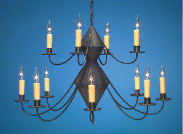 tin lighting fixtures. Hammerworks Reproduction Colonial Tin Chandeliers: Handmade In 2 Tier With Antique Finish - Ch201 Lighting Fixtures