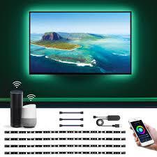 Light Smart Tv Le Led Strip Lights Alexa Google Home Compatible 6 56ft Wifi Smart Tv Backlight Usb Color Changing Light Strip For Tv Smd 5050 Flexible Tape Light