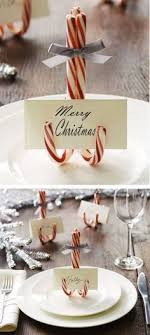 Candy Cane Table Decorations Top 60 Christmas Projects DIY Christmas Christmas card holders 38