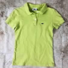 Lacoste Polo Womens Size Chart Lacoste Women S Classic Polo Neon Green