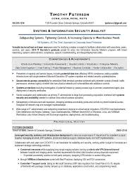 Simple Ideas Information Security Analyst Resume Information