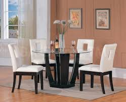 Glass Dining Table Set 4 Chairs 4 Chair Dining Table Dining Chairs For Round Table Coaster
