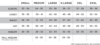 Hunter Safety System Size Chart Sizing Chart First Lite Performance Hunting