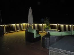 Impressive Led Deck Lights And Balcony Design With Lighting Traditionalporch To Decorating