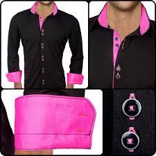 Neon Designer Dress Active Designer Dress Shirt Black With Neon Pink Neon
