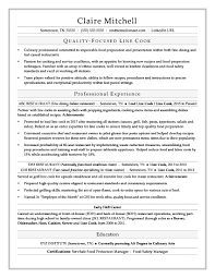 Line Cook Resume Sample Monster Com