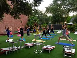 weekly beer yoga