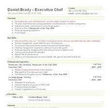 Executive Chef Resume Template Fascinating Chef Resume Samples Free And Free Sample Executive Chef Resume