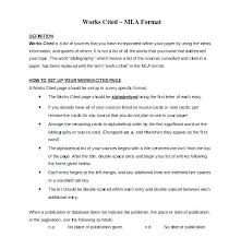 Mla Format Templates Free Mla Format Template Homeish Co