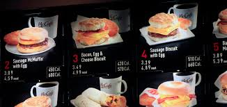 Mcdonalds Breakfast Menu Nutrition Chart Mcdonalds To Start Posting Calorie Counts The New York Times