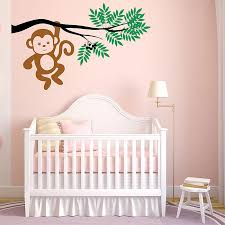 on tree branches vinyl wall art with monkey hanging from a tree branch vinyl wall art decal