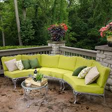 make cushions for a curved patio set