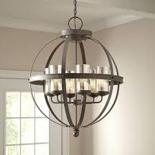 modern 6 light globe chandelier orb pendant lighting glass shades lighting and chandelier