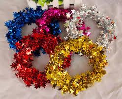 Großhandel 5 Meter Lang Weihnachten Rattan Sterne Farbstreifen Weihnachtsdekoration Geschenke Draht Band Christbaumschmuck Eine Vielzahl Von Farben