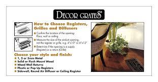 Decorative Grates Registers Amazoncom Decor Grates Wl410 U 4 Inch By 10 Inch Wood Louver