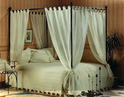 4 Poster Bed Curtains Set Of Voile Cotton Four Poster Bed Curtains 4 ...