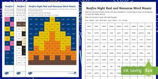 Phonics worksheets and online activities. Bonfire Night Phase 5 Phonics Mosaic Worksheet Activity Sheets