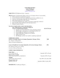 Resume Cnc Machine Operator Resume