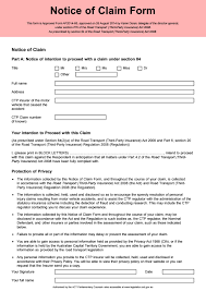 Motor Accident Notice Of Claim Form Act By Recipio Issuu