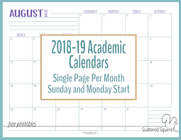 Printable School Year Calendars 20182019 School Calendar Template Premieredance Calendar