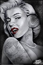 marilyn 1 marilyn monroe tattoos by james danger harvey 24 quot x36 quot art on marilyn monroe tattoo wall art with amazon marilyn 1 marilyn monroe tattoos by james danger