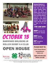 Washington Township School District 4 H Roller Derby Open House Flyer