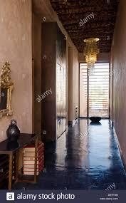Kronleuchter Im Flur Des Marokkanischen Neubau Mit