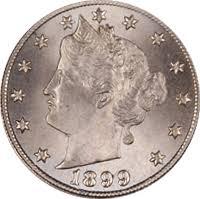 1899 Liberty Head V Nickel Value Cointrackers