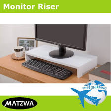desktop monitor riser computer laptop stand ergonomic mount by matzwa 3 colors