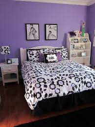 paint colors for teenage girl bedrooms. Delightful Bedroom Ideas For Teenage Girls With Purple Walls Paint And Black White Flower Pattern Bedding Colors Girl Bedrooms I