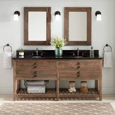 72 benoist reclaimed wood console double vanity for undermount sink gray wash pine