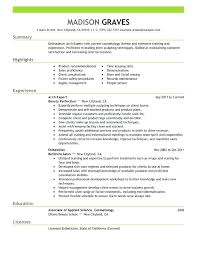 Esthetician Resume Examples Inspiration Esthetician Resume Cover Letter Best Sample Resume Cover Letter