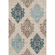 world rug gallery transitional damask high quality soft blue 3 ft x 5 ft