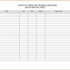 Class Sign In Sheet Template New Party Sign In Sheet