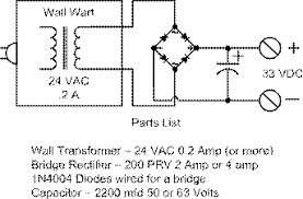 batfeedgo if you a 30 volt dc wall transformer you can use that a 24 volt dc transformer will work and the telephone line current will be adequate for testing