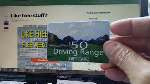 free monday drawing 50 driving range gift card 4 30 18