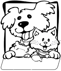 Small Picture Dogs And Cats Coloring Pages CartoonRocks Coloring Pages Dog Cat