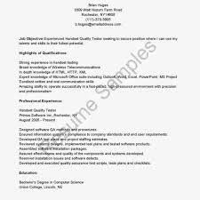 Software Tester Resume Sample Software Testing Resume Samples Resume For Study 80