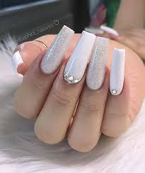 21 pretty white glitter nails for any
