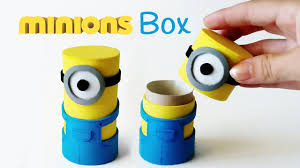 Craft Diy Crafts Minions Box From Cardboard Tube Innova Crafts Youtube