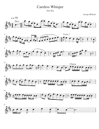 careless whisper tenor sax sheet music day 27 my goal attempts to do this challenge pinterest