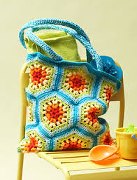 Sugar And Cream Yarn Patterns New Ravelry Rainbow Hexagon Beach Bag Pattern By Lily Sugar'n Cream