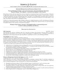 Executive Resume Operating And Finance Executive Resume Examples Of Executive 56