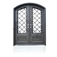 iron and glass front doors autumn double arch rod iron glass front doors