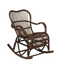 dark rattan rocking chair from affari of sweden pertaining to idea 7