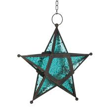 hanging lantern glass blue glass lantern large star lantern colored glass lanterns